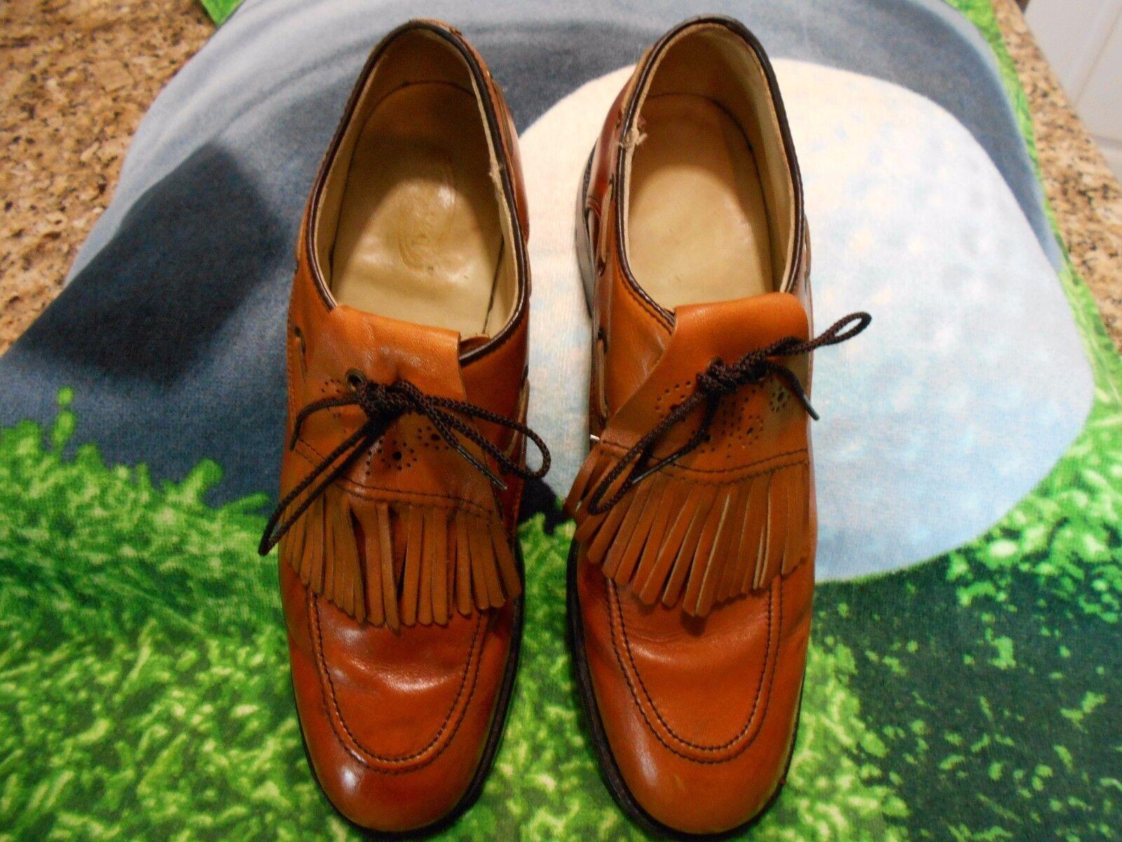 Vintage Dexter Classics Golf schuhe   Uomo SZ 9A  schuhe All Leder soles Braun Tassels a377d9