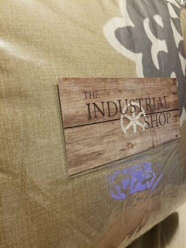 The Industrial Shop Architectural Tile Print Queen Comforter Set