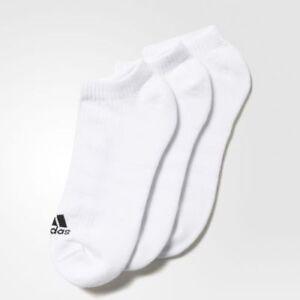 Details zu Adidas Herren Damen Sneaker Sommer Sport Socken Füsslinge 3er Pack Weiß AA2279
