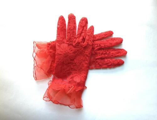 Kids Wrist Lace Gloves Wedding Party Flower Girl Dress Costume Toddler Satin