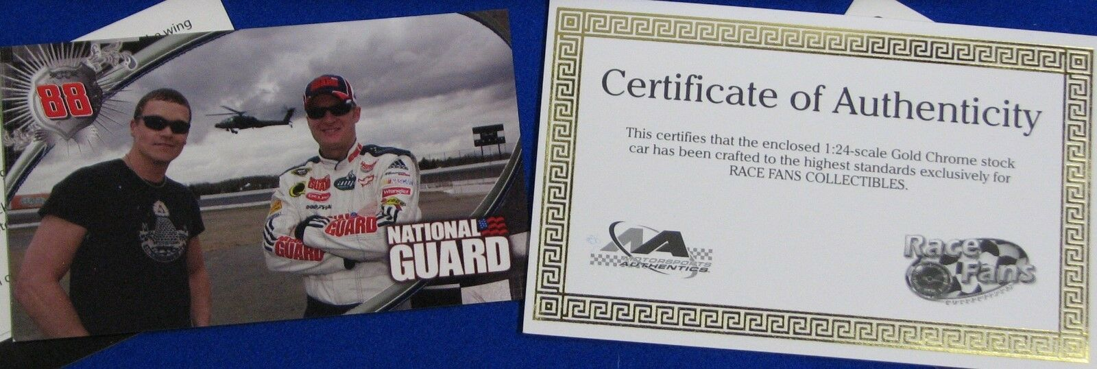 Dale Earnhardt JR ;24 scale  2008 QVC SPECIAL    Citizen Soldier gold Chrome 38f693