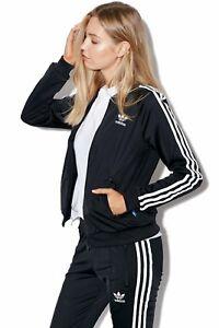 Details about MED adidas Women's SUPERGIRL 2PC SET TRACK JACKET & TRACK PANTS BLACK LAST1