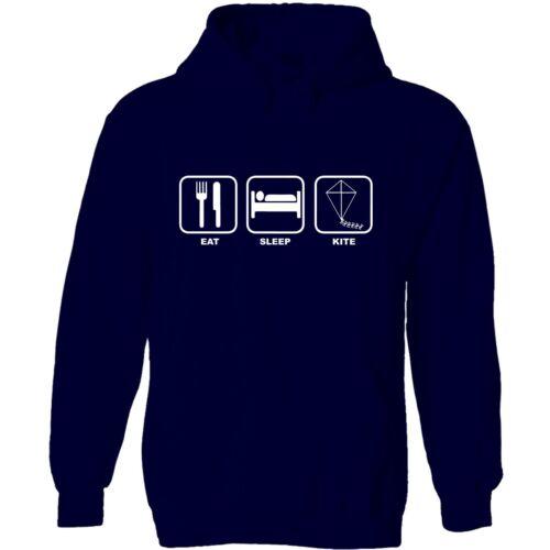 Eat sleep kite men/'s hoody hoodie funny birthday gift