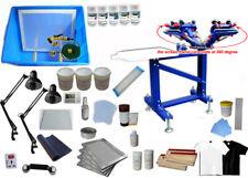Floor Type 4 Color 1 Station Silk Screen Material Kit Screen Printing Press