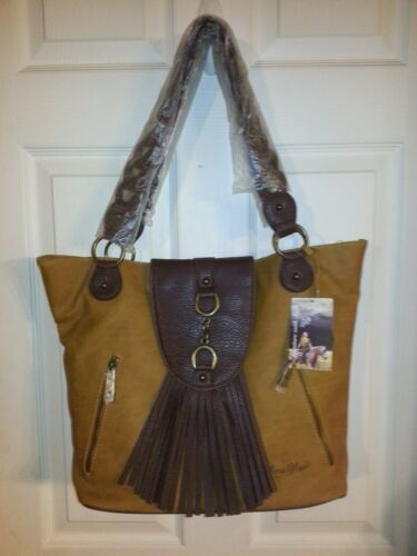 Fringe Nwt Tote Hobo Lg Schoudertas Tan West Cowgirl 73111020229 Western Purse Way New OPXuZki