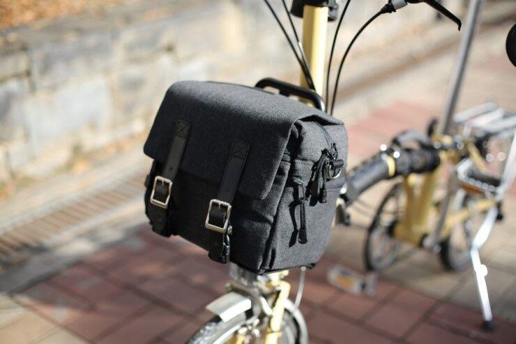Mini Bolso de mensajero bolsa de Brompton Frontal Bici Bicicleta Bolso Bolso + marco conveniente