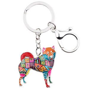 Enamel Alloy Shiba Inu Keychain Ring Charms Jewelry For Women Kid ... f5c759066