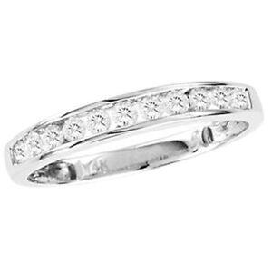 .25 CT Pave Round Diamond Engagement Wedding Ring Band 3.9 mm 14k White Gold