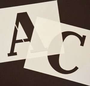 Sportif Grand Pochoir Lettres Ou Chiffres Hauteur 140mm Sur Distincte Pochoirs Alphabets-afficher Le Titre D'origine