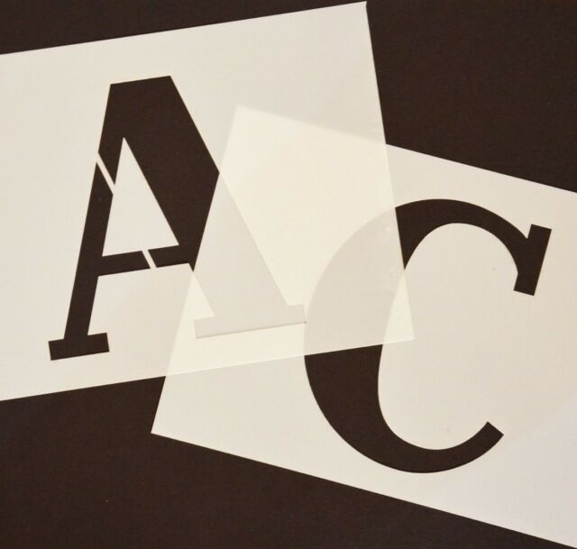 Letter Addressing Stencil.Big Alphabet Stencil Letters Or Numbers 140mm High 5 1 2inch Separate Stencils