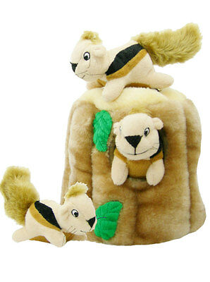 Outward Hound Plush Puppies HIDE A SQUIRREL Dog Puzzle Toy Small JUNIOR