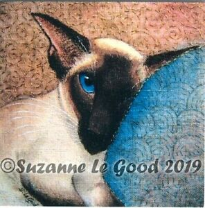 Siamese-Cat-print-from-Original-Painting-Limited-Edition-mounted-Suzanne-Le-Good