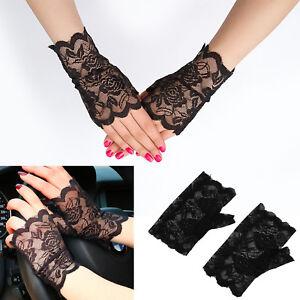 Nice-Lace-Stretch-Fingerless-Wrist-Gloves-HALLOWEEN-GOTH-Fancy-Dress