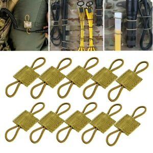 10Pcs Tactical PTT Retainer Molle Retainers Webbing Communication Cable Fastener