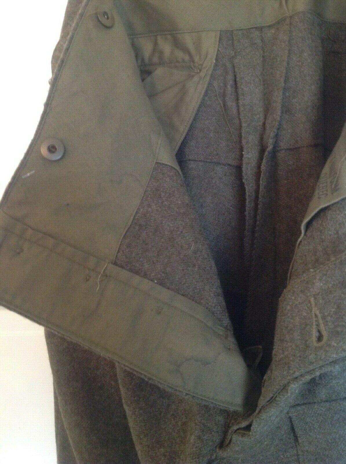 Vintage 1955 Canadian Olive Green Wool Military B… - image 9