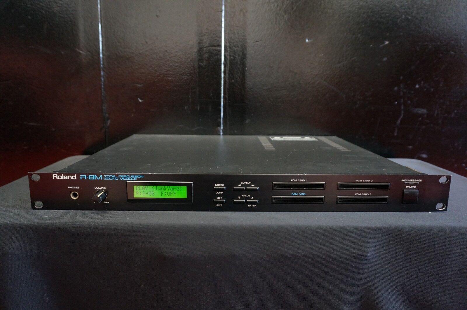 Roland R-8M Total Percussion Sound Module 80's Expandable Rack Unit 100V