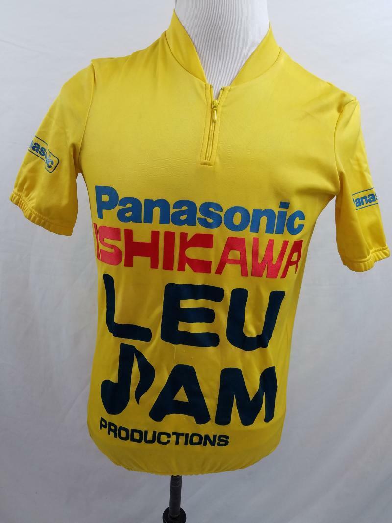 VTG Panasonic Japan Team Ishikawa Mens S M L Gelb VTG 1 4 Zip Cycling Jersey
