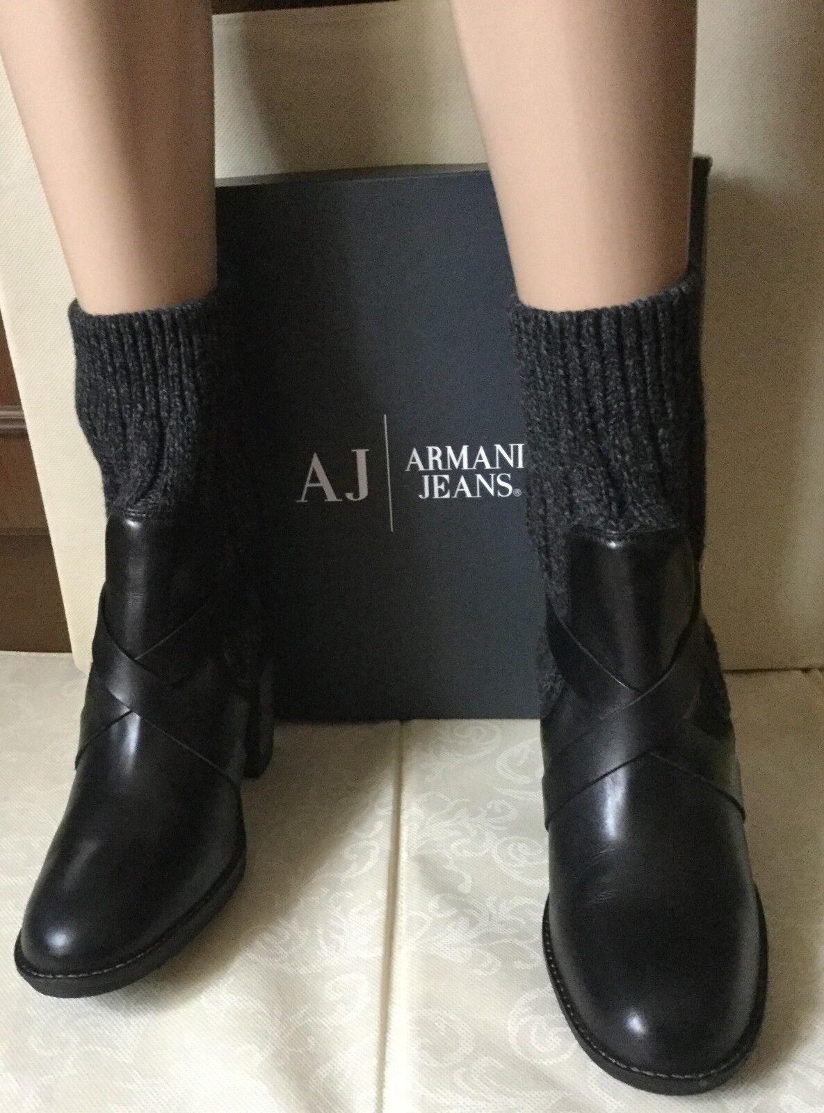 ARMANI JEANS Women's ankle boots, black color, size 41  Stivaletti women, black