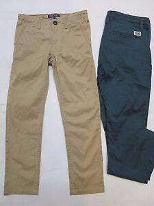 Boys-designer-trouser-chino-slim-leg-2-3-5-6-7-8-9-10-13-14-15-16-years-RRP-49