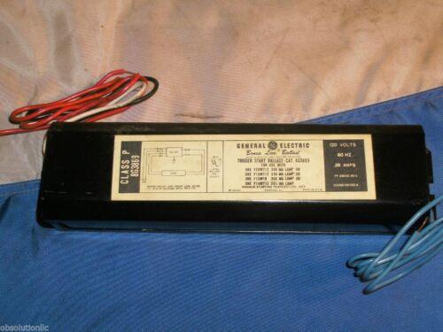 GE//GENERAL ELECTRIC 8G3869 FLUORESCENT BALLAST 120V//60HZ
