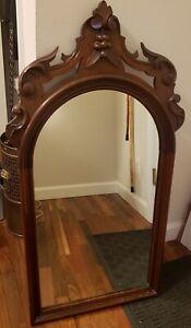 Antique Late 19th Century Mahogany Mirror