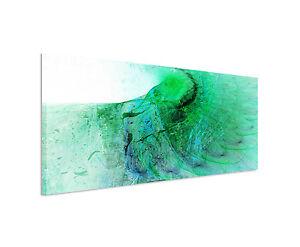 150x50cm Panoramabild Paul Sinus Art Abstrakt grün blau schwarz weiß ...