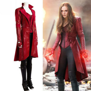 CAPITAN AMERICA 3 GUERRA CIVILE Scarlet Witch Wanda Cosplay Costume Halloween Completo