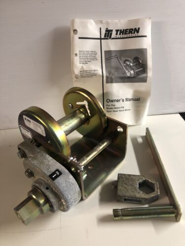 1000 lb Details about  /New THERN M4031PB SPUR GEAR HAND WINCH