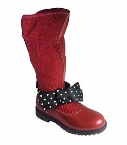 393060d52d6f7 Lelli Kelly Magiche Girls Red or Black Patent Winter Boots Size 26 ...
