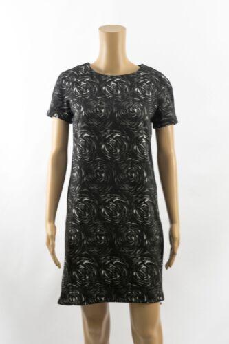 Marks /& Spencer Best of British Black Rose Print Tunic Shift Casual Dress