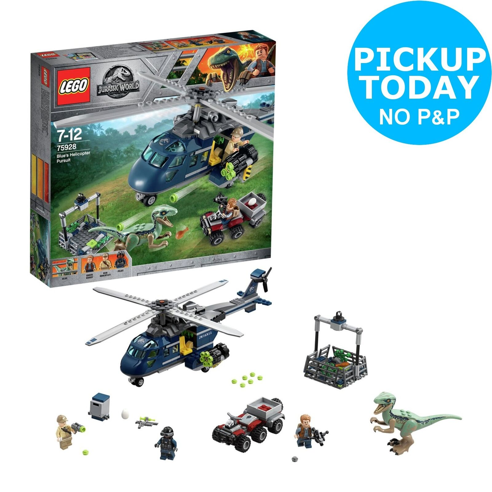 LEGO Jurassic World bluee's Helicopter Set - 75928.