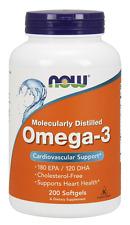 Now Foods Omega-3 1000mg 200 Softgels Fish Oil Joint & Heart Health 180 EPA