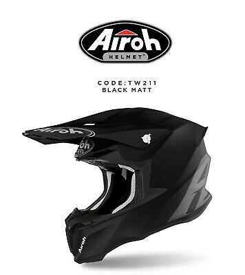 colore bianco lucido TWIST 2.0 COLOR SZ Casco integrale Off-Road per moto AIROH TW214 S.