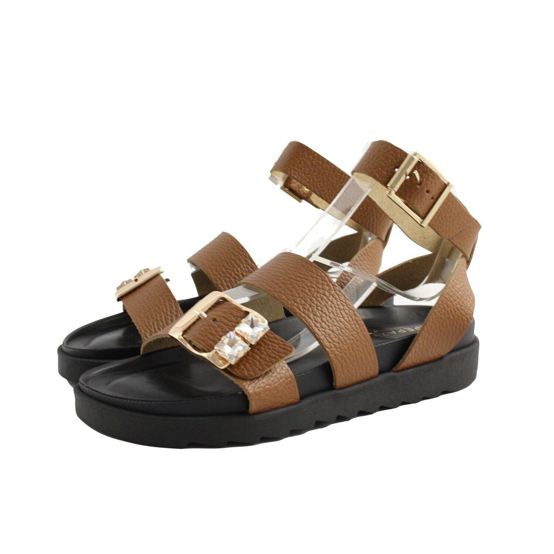 Sandales Chaussures Basses Apepazza Femme Peau Cuir Bracelet Gemme. Fond Gomme
