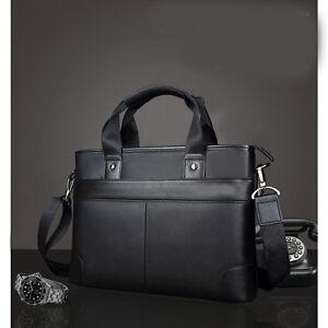 e0c60c0d3b Image is loading Men-039-s-Luxury-Leather-Briefcase-Business-Laptop-