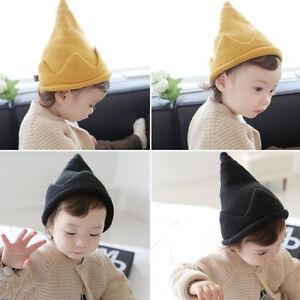 Unisex Cute Baby Toddler Kids Elfin-like Crown Knit Hat Crochet Wool ... 24620b6904f3