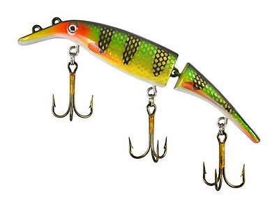 """Swim Whizz 8"""" Jointed Homer Leblanc Original, Great for Musky, Pike,All-Species"""