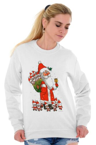 Funny Santa Claus Christmas Jingle Bells Cute Xmas Gift Pullover Sweatshirt