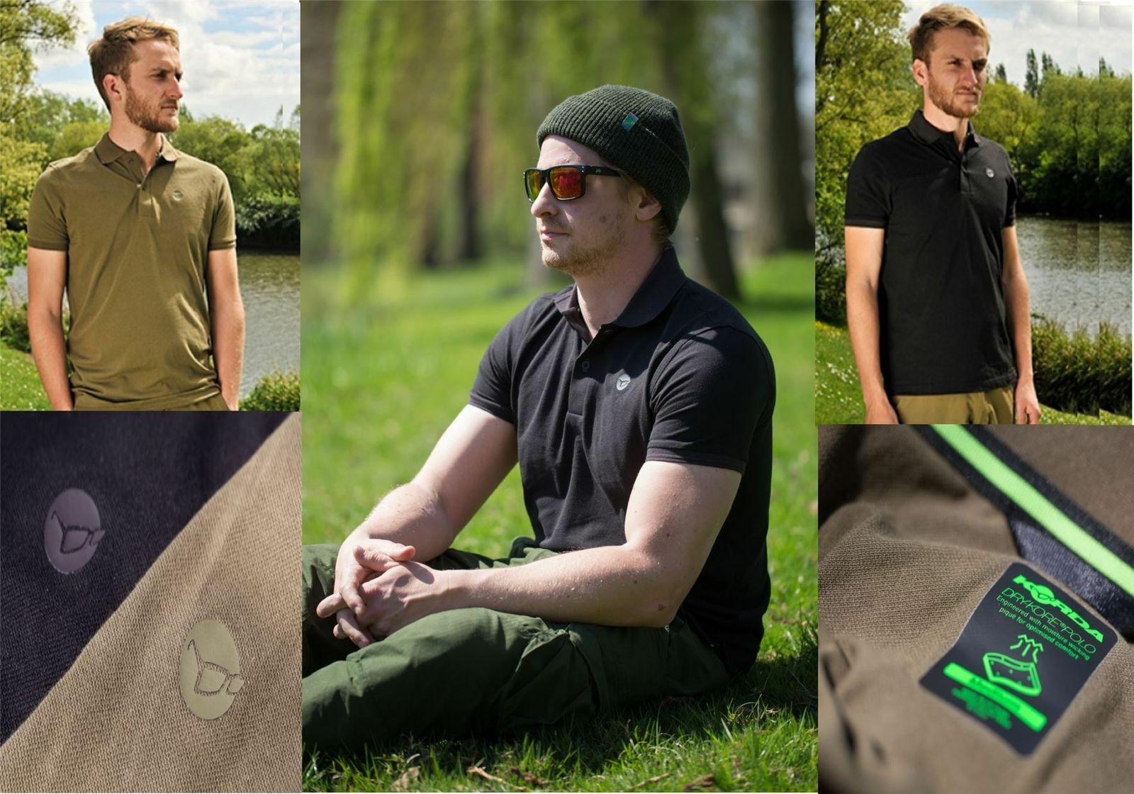 Korda Dry-Kore Polo Shirt   All Sizes    Clothing   Fishing  classic style