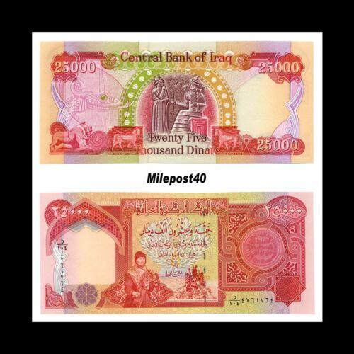 75000 3 x 25,000 IQD!! Iraqi Dinar Banknotes 75,000 Lightly Circ Fast Ship!