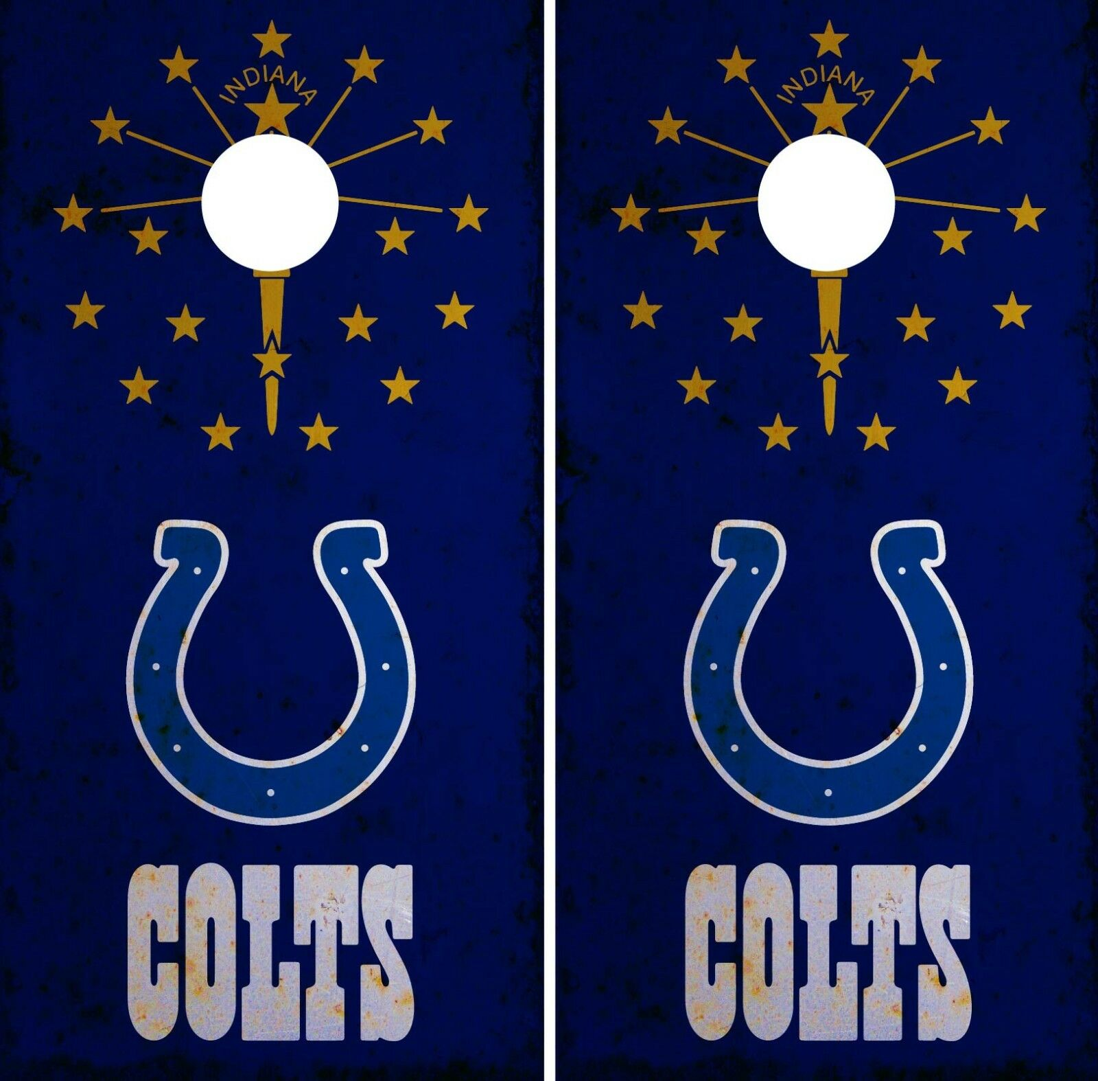 Indianapolis Colts Cornhole Wrap NFL Game Skin Board Set Vinyl Art Decal CO122