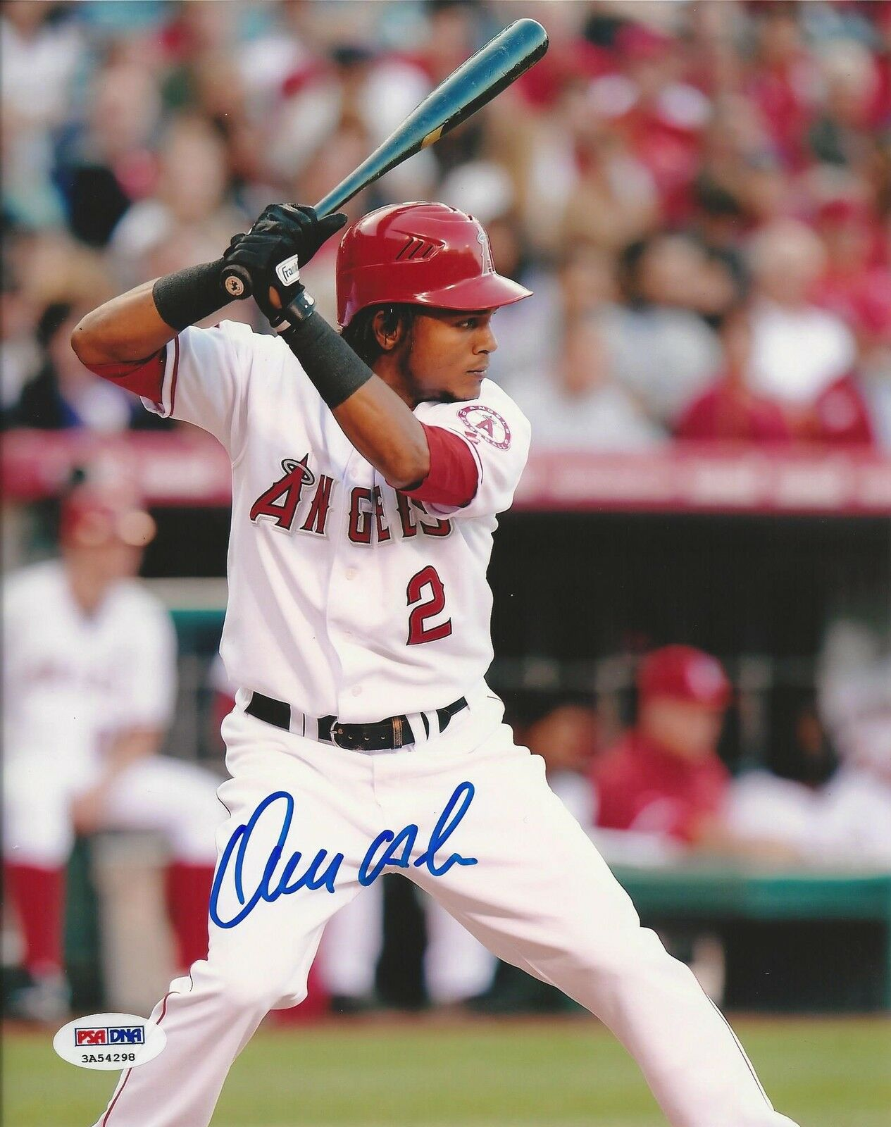 Erick Aybar Los Angeles Angels of Anaheim signed 8x10 PSA/DNA # 3A54298