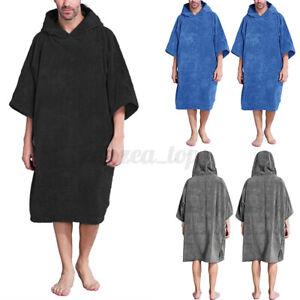 Herren Erwachsene wechseln Robe Handtuch Bademantel Poncho Handtuch Strand Kleid