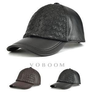 Casquette-de-base-ball-en-cuir-pour-hommes-chapeau-en-cuir-reglable-hiver-chaud