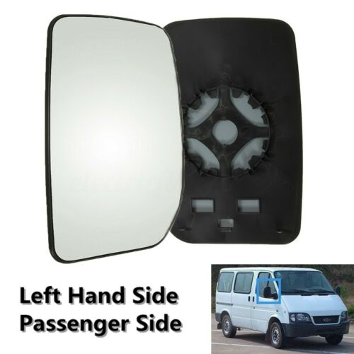 Car Left Passenger Side Wing Door Mirror Glass Clip On For Ford Transit  ^
