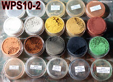 WPS10-2 DAVE'S WEATHERING POWDERS ALL NATURAL EARTH PIGMENT 10 COLOR SET 2