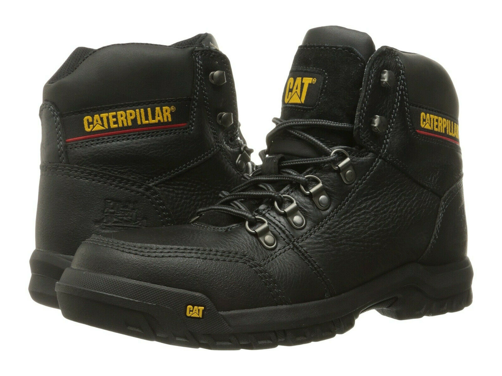 Men Caterpillar Outline Steel Toe Work Boot P90800 Black 100% Authentic New