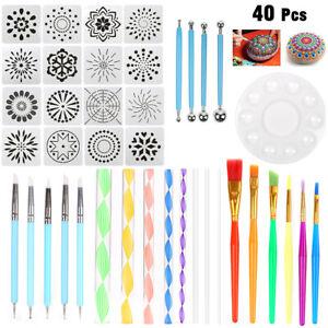 40pcs-Mandala-Dotting-Tools-Kits-Rock-Painting-Drawing-Set-Dot-Art-Pen-Stencil
