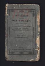 █ Charles CHARTON Annuaire statistique du Département des VOSGES pour 1832 █