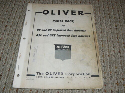 Oliver White Tractor No.330 Disc Harrow Parts Book